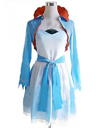 Inspiré par RWBY Weiss Schnee Anime Costumes Cosplay Costumes Cosplay / Robes Mosaïque Blanc / Bleu Manteau / Robe