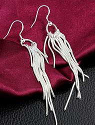 Boucles d'oreilles pendantes des femmes argenté en alliage de haute qualité gland (1 paire)