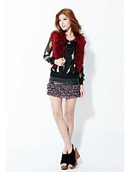 Zoely Damenmode ärmellose Strick Cardigan ausschließen T-Shirt Red Coat 101131X003