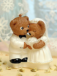 Bear Couple Candle