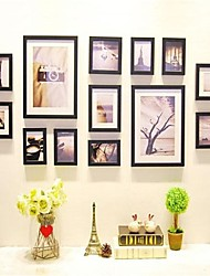 Black Photo Frame Collection Set of 13