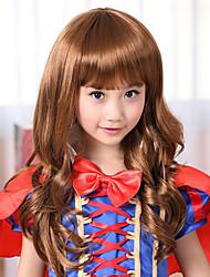100% Kanekalon Synthetic Golden Blonde Long Wavy Children's Wig for Festival Party