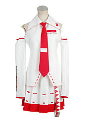 Vocaloid Zatsune Miku White & Red Cosplay Costume