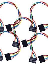 8 PIN Dupont Fil connecteur femelle 200mm Longueur 2,54 mm - Multicolore (5Packs)