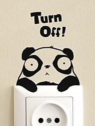 Animaux Panda commutateur Wall Sticker Autocollants