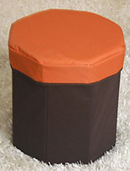 Classic Solid Octagon Lidded Storage Box and Stool - 3 Colors Available