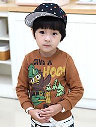 Boy's Cartoon Bird Print Ronde Collor sweatshirt