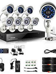Zmodo® 8 CH DVR Outdoor 700TVL CCTV Home Surveillance Security Camera System
