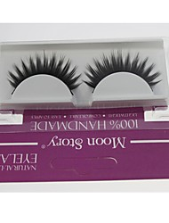 1 Pair Pro High Quality Hand Made Synthetic Fiber Hair Thick Long Style False Eyelashes