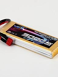 YKS 7.4V 5000mAh 2S 50C batterie Li-Po (T Plug)