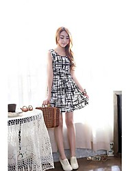 Women's  Sleeveless Printed Dress