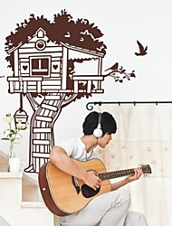 Botanical The Tree House Wall Stickers