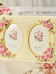 """5""""Modern European Style Pearl  Polyresin Picture Frame"""
