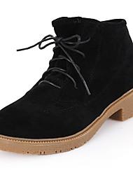 Low Boots Combat Talon de suède femmes avec lacets (plus de couleurs)