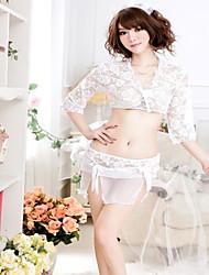 Donna Sexy Lingerie Sheer ricamo floreale Set