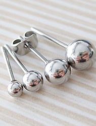 Miss ROSE®Men's Fsshion Titanium Steel Ball Earrings(1pcs)