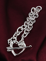 High Quality Original Silver Silver-Plated Heat Locked Charm Bracelets