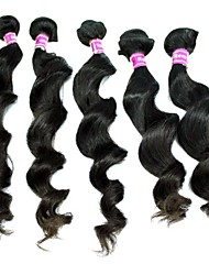 22Inches Brazilian Virgin Hair Loose Wave Natural Black Color