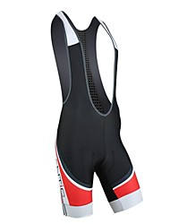 SANTIC Bicicletta/Ciclismo Salopette / Pantaloni Per uomo Traspirante / Pad 4D / Strisce riflettenti Nylon CollageS / M / L / XL / XXL /