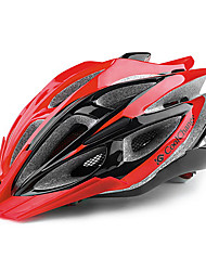 CoolChange 25 Vents Red+Black EPS Integrally-molded Cycling Unibody Helmet
