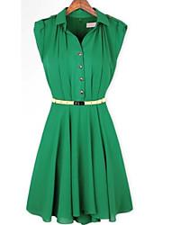 MFL cuello de la camisa adelgazan color (verde)