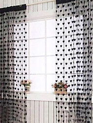 "British Magic Hearts Curtain Line - Three Colors Available (39""W ×78""L)"