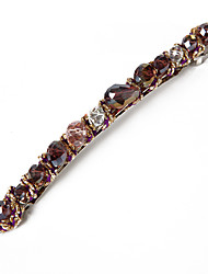 Yiyi Anomaly Collision Color Twine  Crystal  Hairpin(Purple)