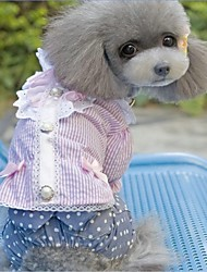 UK Style Office Bowknot Summer Shirt for Dogs Pets