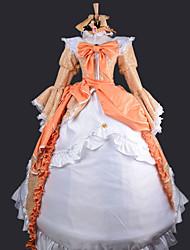 Inspiriert von Vocaloid Kagamine Rin Video Spiel Cosplay Kostüme Cosplay Kostüme / Kleider Patchwork Weiß / OrangeKleid / Stirnband /