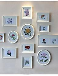 Decoración de la pared blanca Photo Frame Collection, de varios tamaños Photo Frame Collection Juego de 12