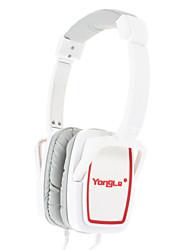 IP-808 3,5 mm pour écouteurs Salut-Fi casque supra-auriculaire avec micro (Blanc)