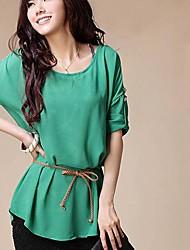 yiqi® Frauen süßes einfarbig zwei Stücke Kurzarm-T-Shirt