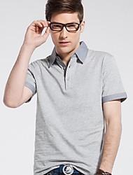 t-shirt de algodão colla lazer polo masculina