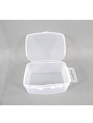 Square Plastic Transparent  Storage Case 3 Sets
