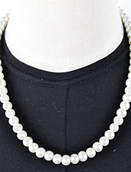 Women's Strands Necklaces Pearl Imitation Pearl Silver-Black Ivory Jewelry Wedding Daily Casual 1pc