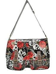 Fashion Floral Skulls Designed  Women Messenger Handbags