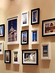 Black White Color Photo Frame Collection Set of 12