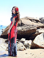 Women's Dresses , Silk Beach/Casual DGWE