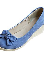 Frauen Keilabsatz Wedges Pumps / Heels mit Bowknotschuhe (mehr Farben)