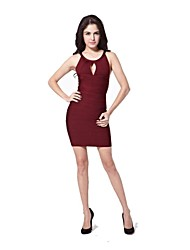 Style Boutique Sheath/Column Key-hole Short/Mini Bandage Dress