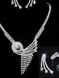 Jewelry Necklaces / Earrings Wedding / Party / Daily / Casual Crystal / Alloy / Rhinestone Women Silver Wedding Gifts