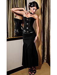 Donna sexy jacquard tessuto splicing Corsetto fasciatura con G-Strings