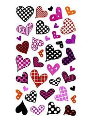 5 Pcs Heart Waterproof Temporary Tattoo(10.5cm*20.5cm)
