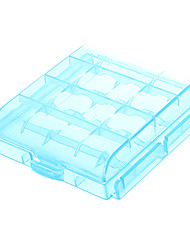 AA/AAA Battery Protective Case Holder Light Blue