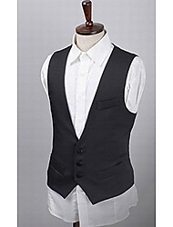 Men's Long Sleeve Vest , Cotton Blend Casual