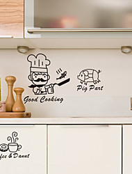 Food Fish Pig Coffee Decorative Wall Stickers
