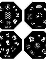 1PCS prego selo arte carimbar Template Imagem Placa QA Série NO.5-60 (Padrão sortidas)