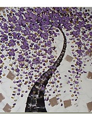 Hand Painted Modern Kinfe  Flower Oil Painting with Stretched Frame Ready to Hang