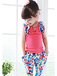 Girl's Floral Print Clothing Sets