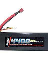 DLG 7.4V 4400mAh batterie Li-Po (T Plug)